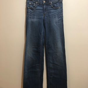 Rag & Bone Size 24, Medium Wash Wide Leg Jeans